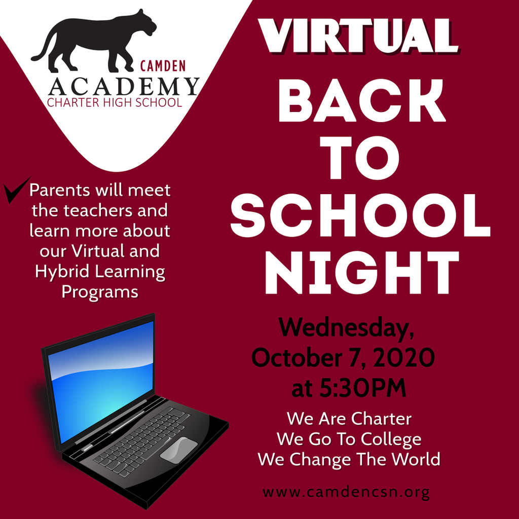 Join us for our Back to School Night on Wednesday, October 7th at 5:30pm