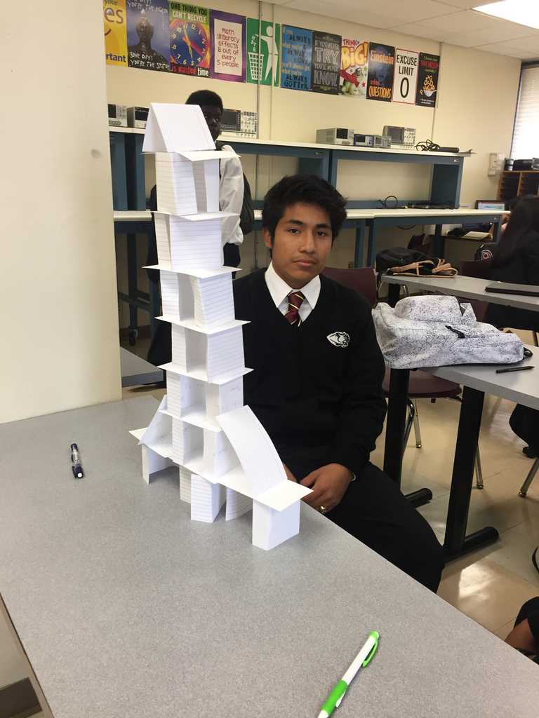 Getting to know you card towers in Ecology