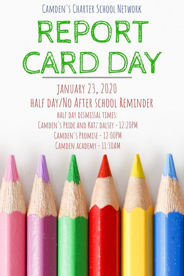 Report Card Day Schedule Reminder