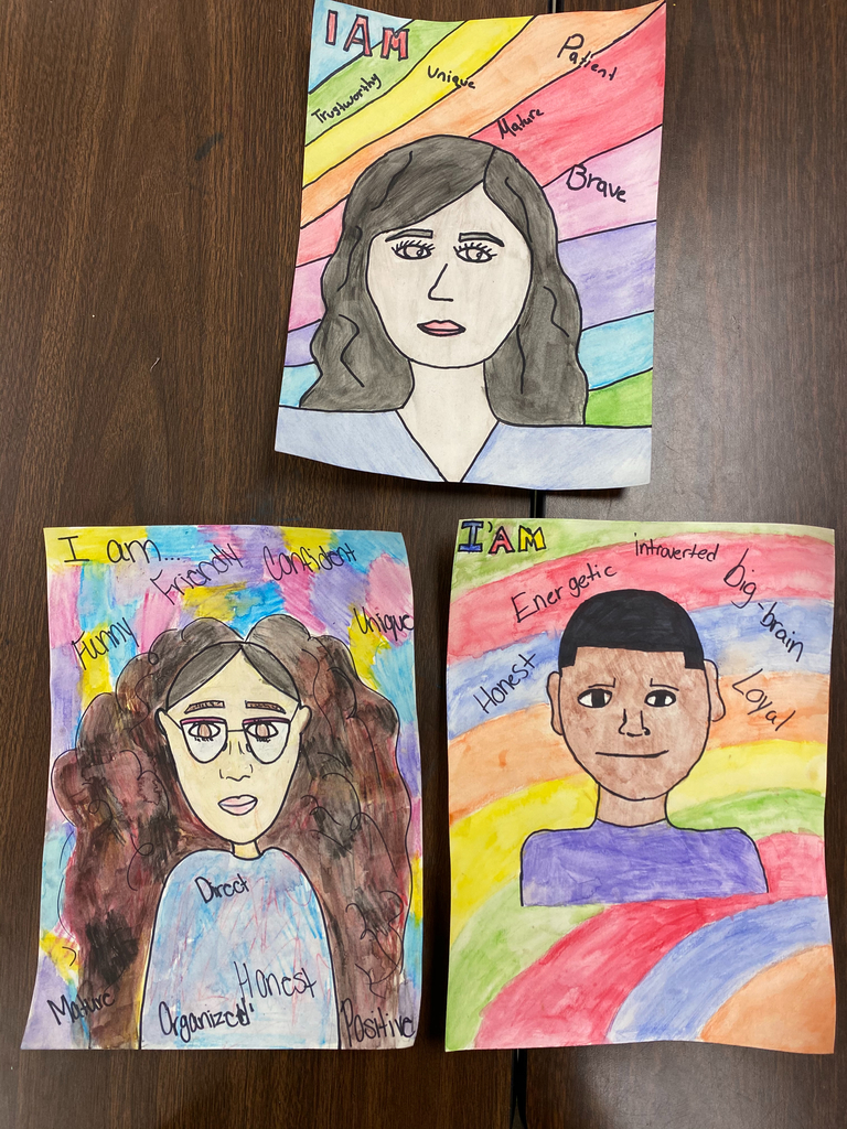 "7th ""I AM"" Self Portraits (top) Lusmeri Torres; (left) Naya Nunez; (right) Eric Harden"